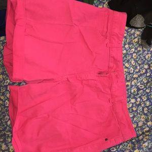 Pink midrise shorts 18
